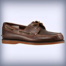 Timberland Men's Classic 2-Eye Boat Shoe Rootbeer SMOOTH 25077