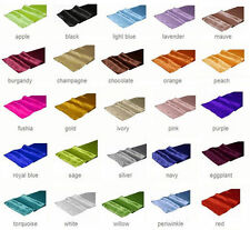 "12"" x 108"" Satin Table Runner Wedding Party Decorations 25+ Colors, you choose!"