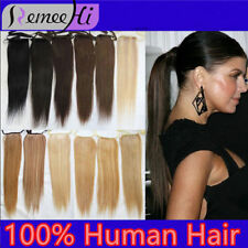 """16""""20"""" 100g remy real human hair ponytail clip-in human hair extension,any color"""