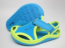 NEW BABY NIKE SUNRAY PROTECT SANDALS TD [344925-403]  VIVID BLUE//GRN ABYSS-VOLT