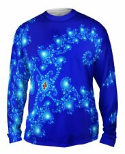 Yizzam- Mandel Fractal Blue Seahorse Tail - New Mens Long Sleeve Tee Shirt XS S
