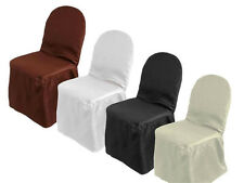 150 Banquet Polyester Chair Covers Wedding Party Decor - 3 Colors!