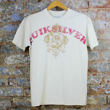 Quiksilver new Hollywood Casual/Sport/Summer Short Sleeve T-Shirt White size S