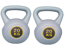 20 KG KETTLEBELL GYM TRAINING WEIGHT EXERCISE STRENGTH WORKOUT PAIR KETTLE BELL