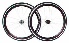 Fixed Gear Bike Wheels Deep V Wheelset - Free Tires 700c x 28