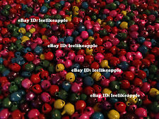 6mm Jingle Bells, Beads, Charms, Christmas Decoration, Mix of Blue, Pink, etc.