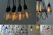 Cluster Draped chandelier cage light for vintage edison filament light bulbs