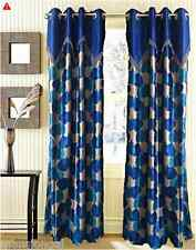 READY MADE SILK VALANCE CURTAINS LUXURIOUS - BLUE / BURGUNDY / BROWN / PURPLE