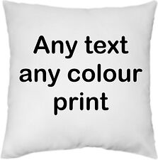 "Personalised Cushion Covers - Custom Printed Photo or Text 40cm (16"") 100%COTTON"