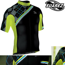 Suarez of Colombia Men's Black/Neon Plaid Cycling Jersey - CLEARANCE WAS £49.99