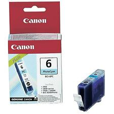 GENUINE OEM CANON BCI-6PC PHOTO CYAN (BLUE) PRINTER INK CARTRIDGE/ 440 PAGES