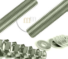 Threaded Bar ZINC PLATED STEEL Threaded Steel Bar WITH NUTS & WASHERS