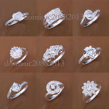 wholesale Promotions sale fashion silver jewelry gift solid s925 rings XMAS GIFT