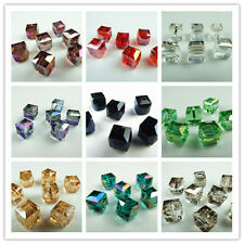 Lovely 10mm Cube glass crystal charms loose spacer beads color chioce