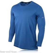 NIKE DRI-FIT MENS RUNNING TOP WOOL LONG SLEEVE CREW NECK TRAINING SHIRT