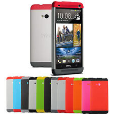 Tri-color Double Dip Hard Full Protection Back Case Cover For HTC One M7