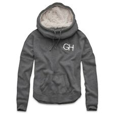 BRAND NEW GENUINE GILLY HICKS SHERPA LINED SCUBA NECK HOODIE GRY.UK SELLER