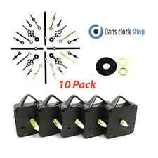 10x Quartz Clock Making Kits - Movements - Metal Hands - Ticking Or Non Tick
