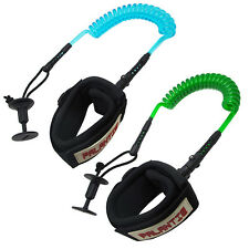 Palantic Surfing Bodyboard 6ft Coil Swivel Bicep Leash w/ Neoprene Wrist Cuff