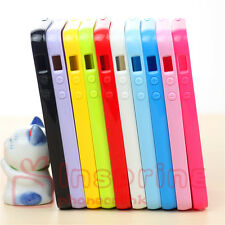 Colorful Smooth TPU Rubber Back Case Soft Skin Cover For Apple iPhone 5 5S