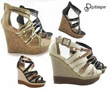 NEW Womens Fashion Dress Shoes Strappy Platforms Wedges Sandals High Heels Sexy