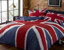 UNION JACK British Flag Blue Red White Duvet Quilt Cover Bedding Set Pillowcases
