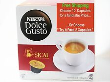 Nescafe Dolce Gusto Sical Portuguese Finest Quality Coffee Capsules Pods 2 to 10
