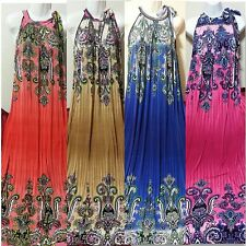Women Long Maxi summer beach hawaiian Boho evening sundress 2X 3X 4X PLUS SIZE