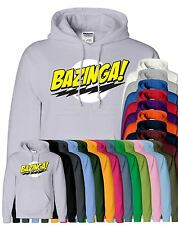 Mens Bazinga Hoodie Hooded Sweatshirt Pullover Sweat Hoody Jumper Sports Casual