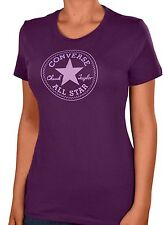 "Converse Women's ""Chuck Taylor All Star"" Stamp Shirt-Purple"
