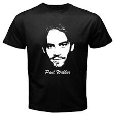Paul Walker 2 American Actor Hollywood T-Shirt Mens Black / Navy Blue