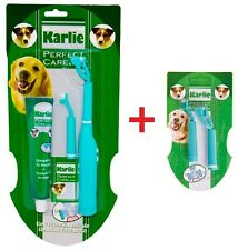 Karlie Electric Dog Toothbrush Tooth Brush Pet Toothpaste Replacement Set Kit