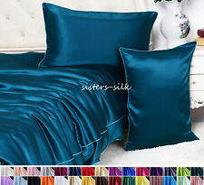 1 Pc 16mm 100% Pure Silk Pillow Case Shams Side Zip Closure Style All Size