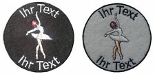 ballerina ballet patch with your text 8cm embroidered logo (132-1)