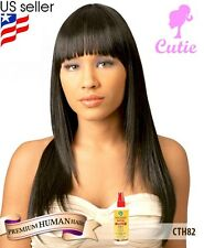 Cutie Collection 82 Premium Human Hair Blended Wig + Free African Essence Spray