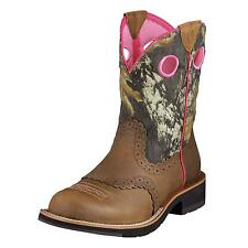 ARIAT Women's Fatbaby Brown Camo Pink Round Toe Roper Cowgirl Boots 10006854 NIB