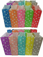 New 25 x Polka Dot Stand Up Paper Loot Bags Lolly Buffet Wedding Party Favour