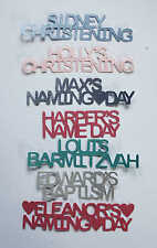 Unique Personalised Table Confetti Name Ceremony Christening Baptism Naming Day