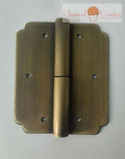 4 hinges Furniture Brass Hardware for Cabinet Trunk Suitcase Copper 6 options