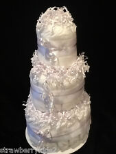 Undecorated Diapercake-White, Purple, Blue, Pink, Yellow FREE SHIPPING!!