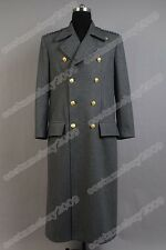 Torchwood Doctor Captain Jack Harkness Jacket Wool Coat Costume Grey Ver