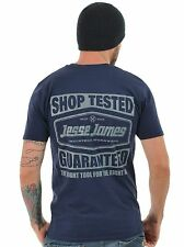 Jesse James Navy Heavyweight Regular Fit Tested T-Shirt