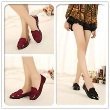 Patent Leather And Suede Lace Design Casual Design Women's Party Shoes Black Red