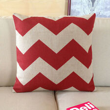 """red stripe cross Zigzag printed modern cushion case pillowcase pillow cover 18"""""""