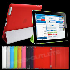Ultra Slim Leather Smart Magnetic Stand Cover + Back Case for Apple iPad 2 3 4