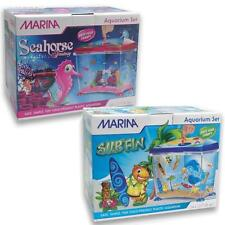 Marina Surfin Blue / Seahorse Pink Kids / Childrens Aquarium Fish tank Set - 14L
