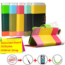 Wallet Flip Hybrid PU Leather Case Stand Cover Pouch For Apple iPhone 5 5S