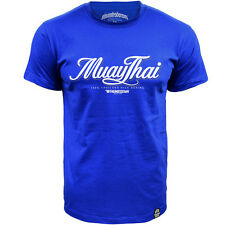 Shirt Thumbsdown Muay Thai Ideal For MMA Training Casual Wears TS323 Royal Blue