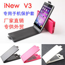 """Deluxe Ultra Slim Thin flip leather cover Case For inew v3 5"""" MTK6582 smartphone"""