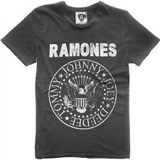 Official Men's Charcoal Ramones T-Shirt by Amplified Clothing